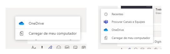 Atalhos do Microsoft Teams