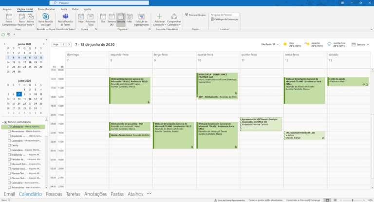 Calendário Outlook
