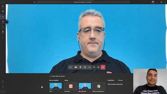 Compartilhamento de tela no Microsoft Teams